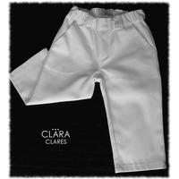 Pantalón De Vestir Blanco Bebé Varón Nene Bautismo O Fiesta