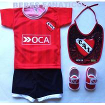Kit Bebe Independiente Camiseta+escarpin+short+babero Racing