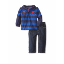 U.s. Polo Set / Conjunto Remera M/larga Y Pantalon Varon