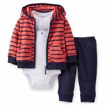 Body + Remera +pantalon Carters Bebes Nenes Conjunto X 3 !!
