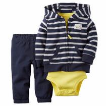 Carter´s Set, Camperita Body Y Pantalon.talles Y Colores