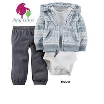 Set Carter´s 3 Pzas: Body + Pantalón + Campera - Nene / Nena