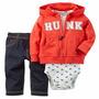 Carters Conjunto 3 Piezas Body Pantalon Y Camperita