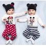 Set Conjunto 3 Piezas Body Pantalon Gorro. Mickey Y Animales