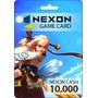 Nexon Game Card   10,000 Nexon Cash   Tarjeta Prepaga