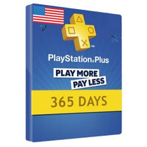 Tarjeta Ps Plus 365 Dias Ps4 Ps3 Entrega Inmediata Cta Usa