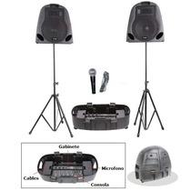 Excelente Sistema De Sonido Portatil 7 Canales Usb Sd 300w