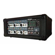 Consola Mixer Potenciada 6 Canales C/usb Moon M610 100w Rms
