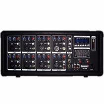 Consola Potenciada Lexsen A8usb - 8 Canales Usb 100w Mp3 Sd