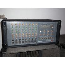Consola Mixer De 8 Canales Potenciada Sammick + Cajas