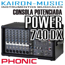 Consola Phonic Power 740 Dx 440 Watts 7 Canales