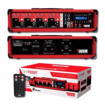 Amplificador Novik 4 Entrada Bluetooth Usb Mp3 2 Salidas