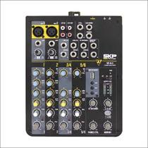 Consola 6 Canales Mixer Skp 6.2 Entrada Usb Repreductor Mp3