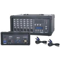 Blg Mc6300b Mixer Potenciado 6 Canales 250w Usb