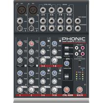 Consola Mezcladora 2 Ch Mono + 4 St C/ Efecto Phonic Am105fx