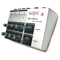 Mixer Consola 8 Canales P/ Microfonos Apto Publicidad Luxell