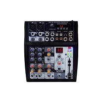 Consola Mixer 6 Canales Usb Mp3 Efec Digitales In Mic Y Pc