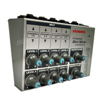 Mini Mixer 8 Canales Mm8l-2 Microfonos 4 Linea