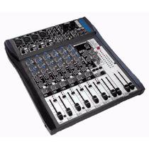 Consola Mixer Mezclador Moon Mc806 8 Canales 16 Efectos