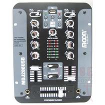 Mixer Dj Moon Mdj206 Usb 2 Canales Mp3 Consola Mezclador