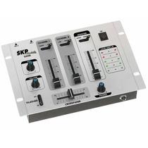 Mixer Mezclador Skp Sm 35 3 Canales 2 Microfonos 2 Lineas