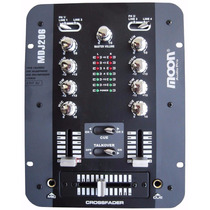 Mixer Dj Moon Mdj206 2 Canales 7 Entradas Consola Mezclador
