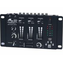 Consola Mezcladora Audio Mixer Dj Gbr Bat 1900 Usb Mp3 Eq