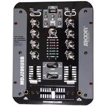 Mixer Para Dj Moon Mdj206usb 2 Canales Con Usb