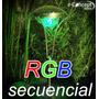 Luminaria Con Panel Solar De Acero Inoxidable Con Led Rgb !!