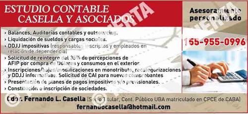 Contador Publico - Estudio Contable - Villa Urquiza