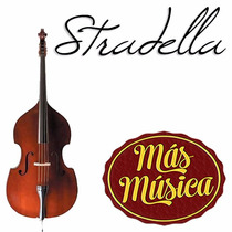 Stradella Mb6072 Contrabajo 3/4 Tapa Maciza Pino Selec.