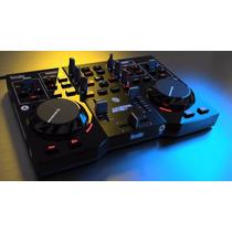 Mixer Controlador Dj Hercules Instict S + Placa De Sonido