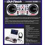 Controlador Dj For All De Dj Tech + Placa + Auriculares