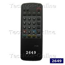 2649 Control Remoto Tv Audiologic Toshiba Philco