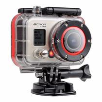 Camara Deporte Full Hd 1080p Sumergible Casco Auto Moto Lcd