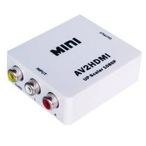 Conversor Video Rca A Hdmi - Adaptador Audio Y Video Led Tv