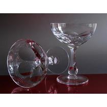 Juego 12 Copas Cristal San Carlos Art Deco, Nuevas.