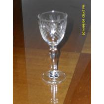 6 Copas De Licor De Cristal Tallado