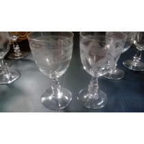Copas De Cristal Tallado Para Vino