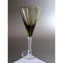Juego 5 Copas Moser De Vino Cristal Fume, Impecables.