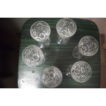 Juego De Copas De Cristal De Licor