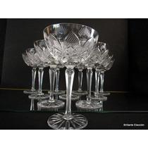 Juego Copas Champagne (10) Cristal Baccarat