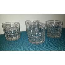 5 Copas Whisky Antiguas De Cristal