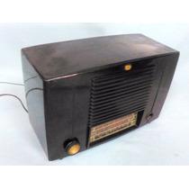 Radio Valvular Frankling En Baquelita Con Valvulas Phillips