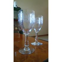 Par De Copas Cristal Saint Louis Para Vino Estilo Colonial