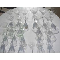 Antiguo Lote 23 Copas De Cristal Coleccion Diseño Caballito
