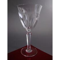 Juego Seis Copas De Cristal Art Deco Para Jerez, Impecables.