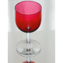 Copa De Cristal Frances Roja Rubi
