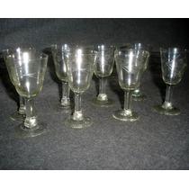 8 Copas Licor 1/2 Cristal Talladas (0460x)
