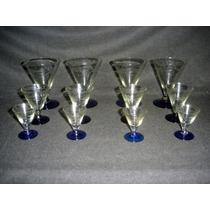 Juego Copas Para Cuatro 1/2 Cristal Bicolor (0461x)